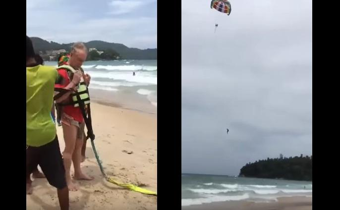 Video de YouTube - filma muerte de su marido en parasailing