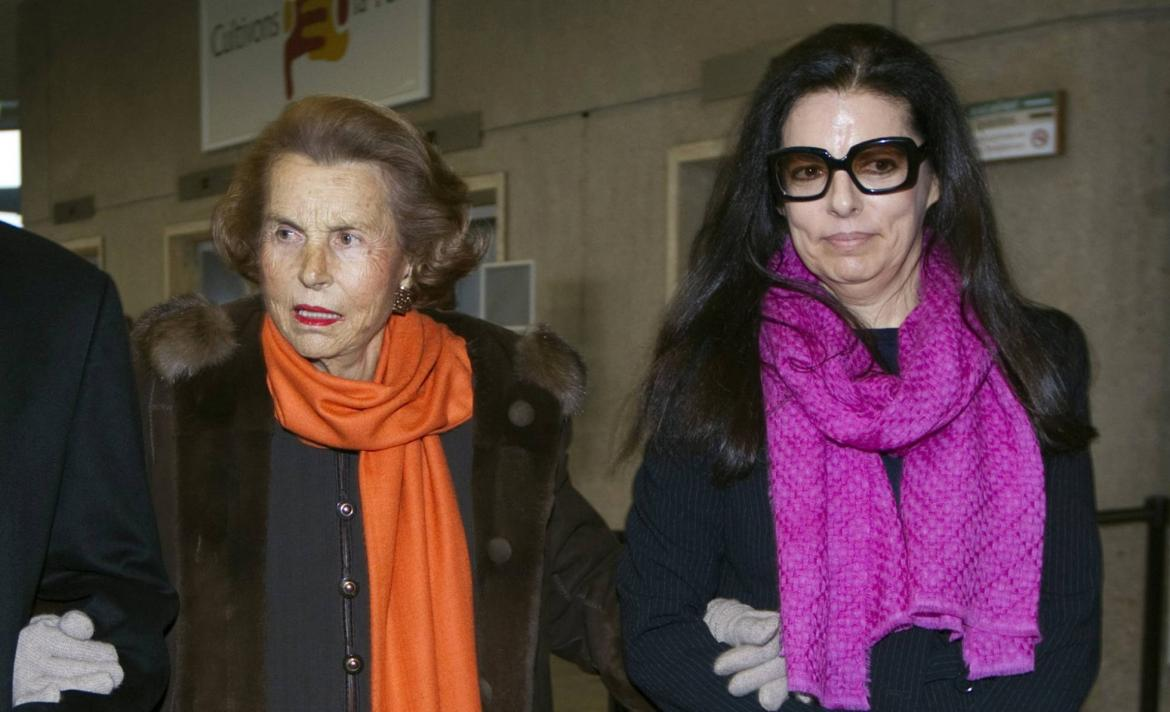 Liliane Bettencourt y su hija