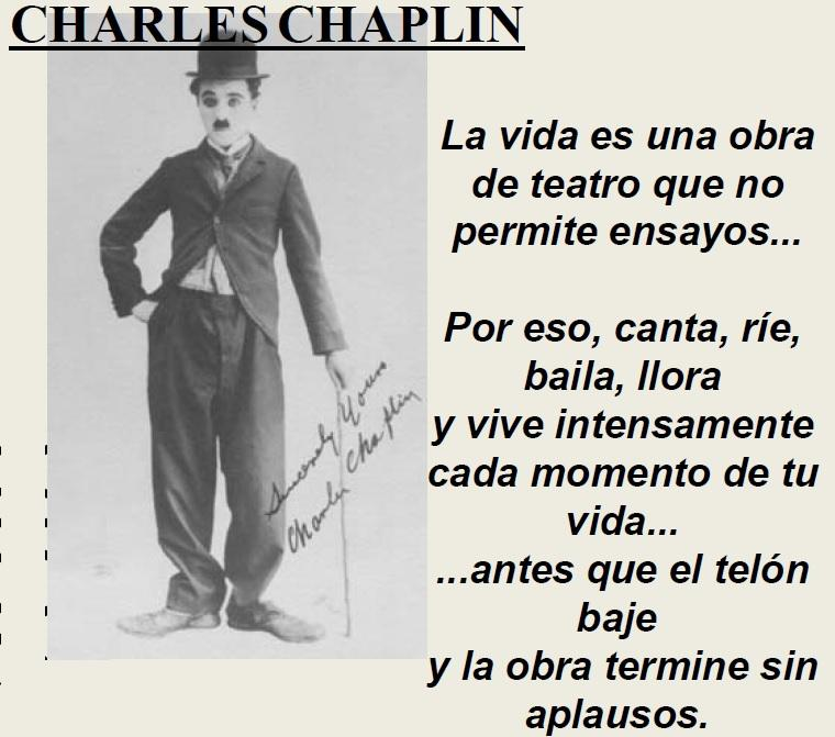 Frases del 2018 - Charles Chaplin