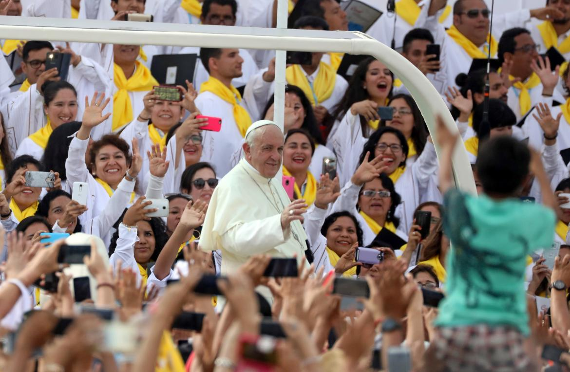 Papa Francisco en Perú (Reuters)