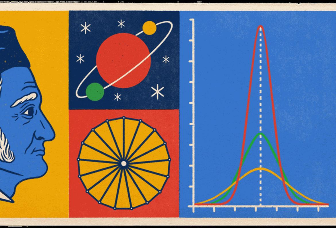 The prince of mathematics, Johann Carl Friedrich Gauss, honored in today's Doodle