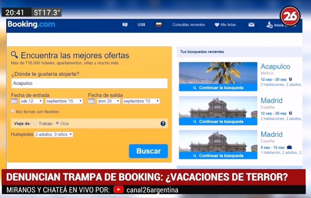Booking, estafas y quejas de la gente