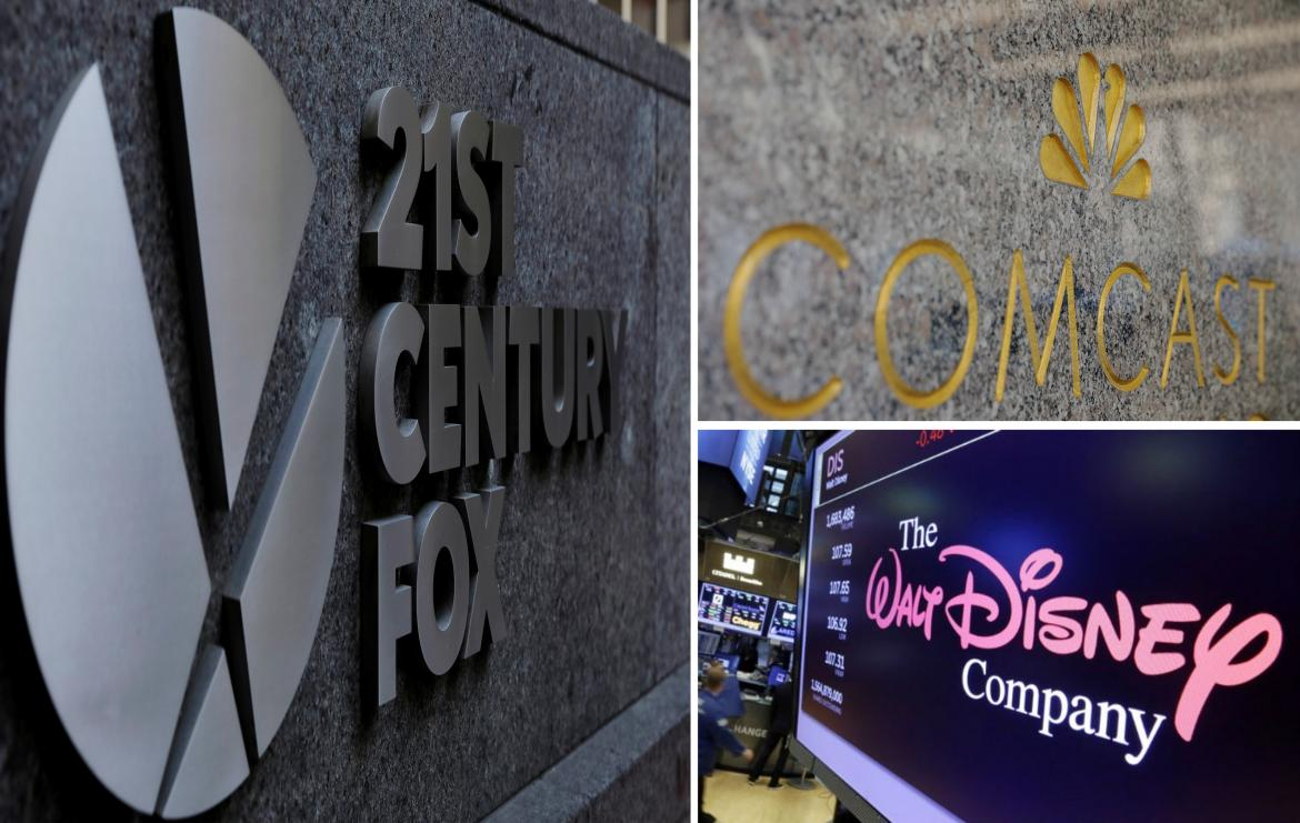 Fox, Comcast y Walt Disney - Reuters
