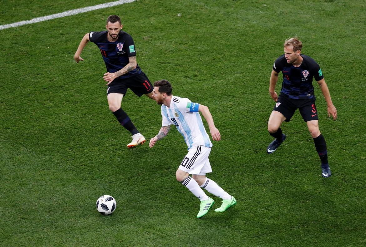 Argentina vs. Croacia - Messi - Reuters
