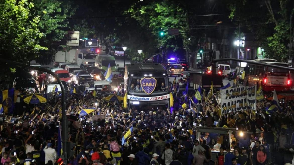 Despedida de Boca Juniors camino a Madrid