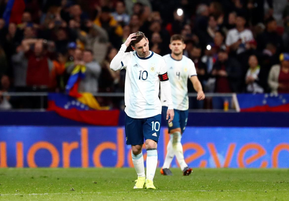 Messi Argentina vs Venezuela - Reuters