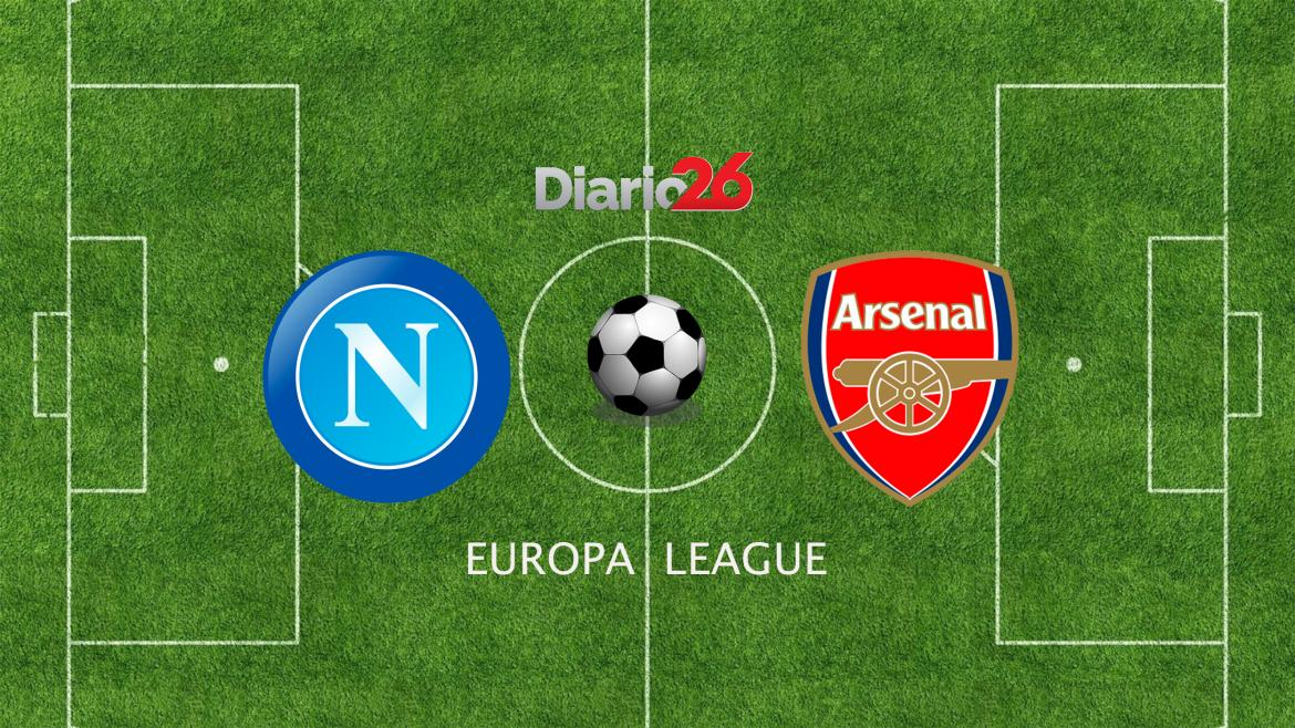 Europa League, Nápoli vs. Arsenal, fútbol, deportes, Diario26