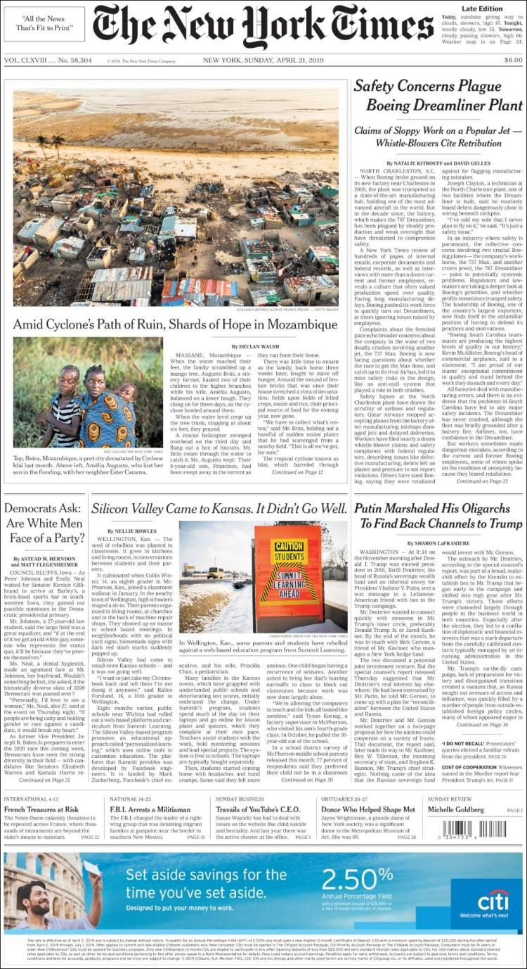 The New York Times 21-4-19