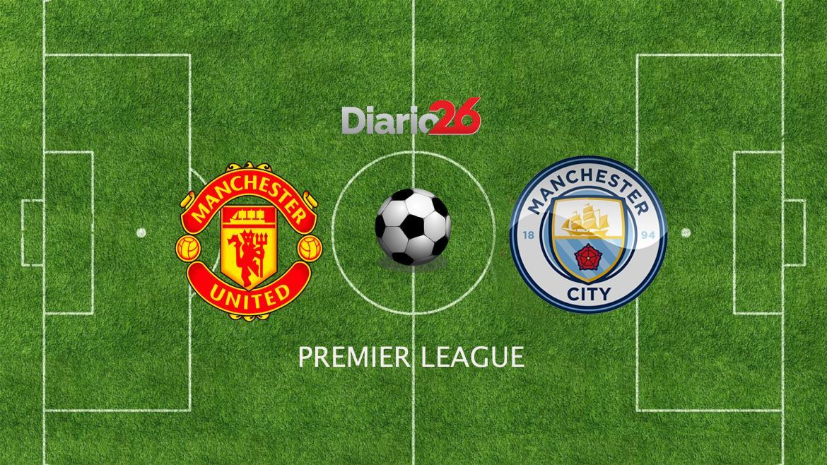 Premier League, Manchester United vs. Manchester City, fútbol, deportes, Diario26