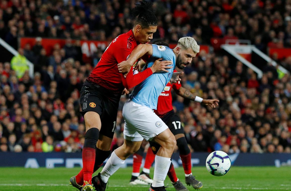 Premier League, Manchester United vs. Manchester City, Kun Agüero, fútbol, deportes, Reuters