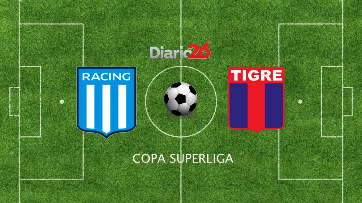 Copa Superliga, Racing vs. Tigre, fútbol, deportes, Diario26