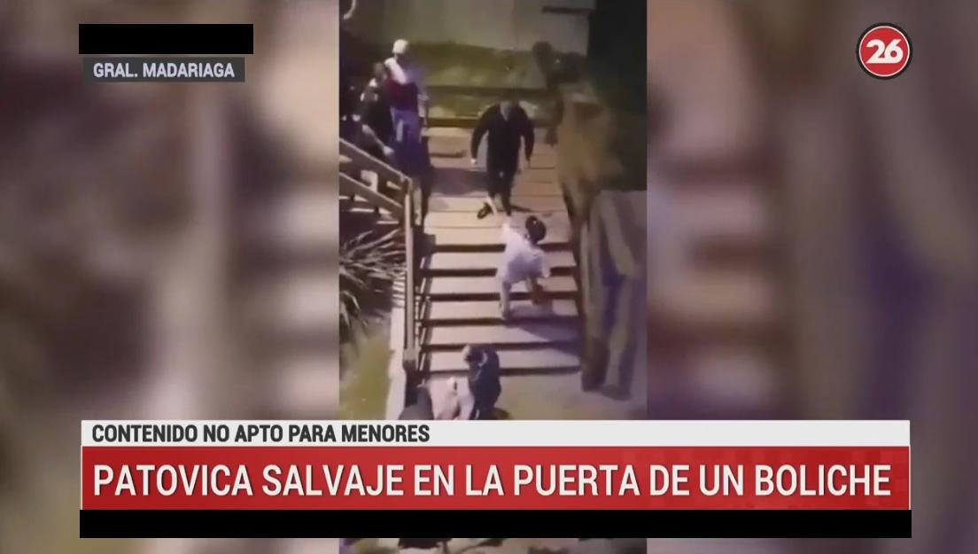 Brutal agresión de patovica - Video Canal 26