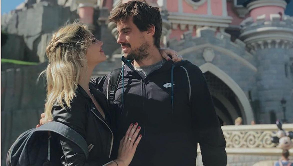 Stephanie Demmer y Guido Pella