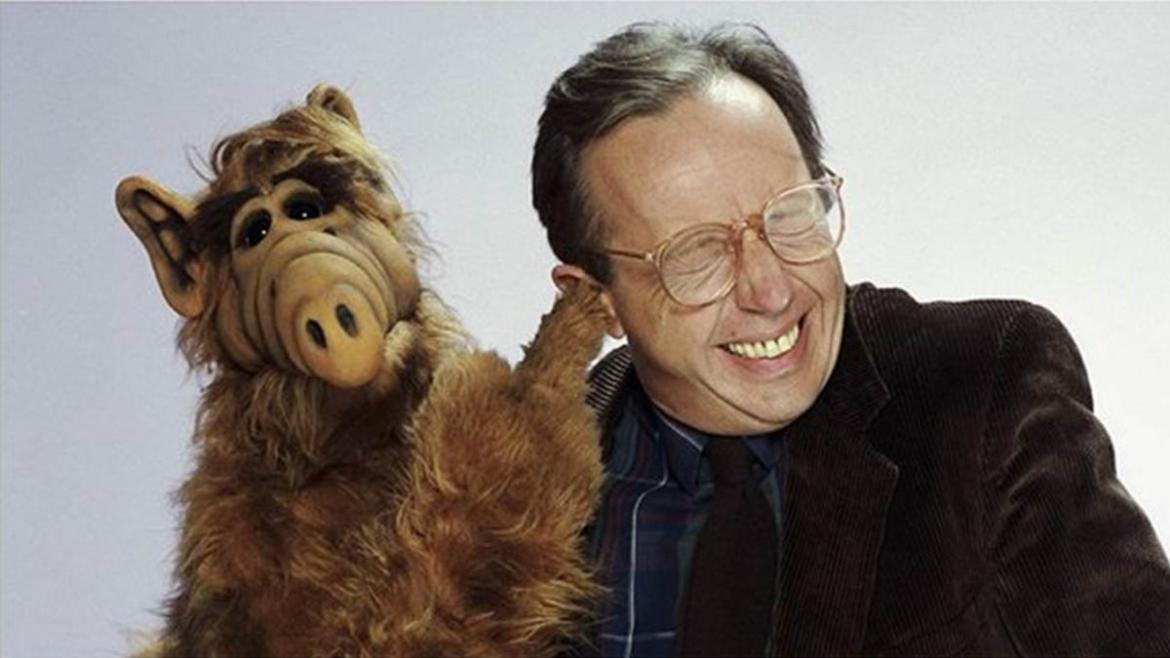Alf junto al actor Max Wright