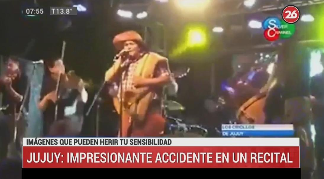 Accidente Jujuy, folcklore, video canal 26