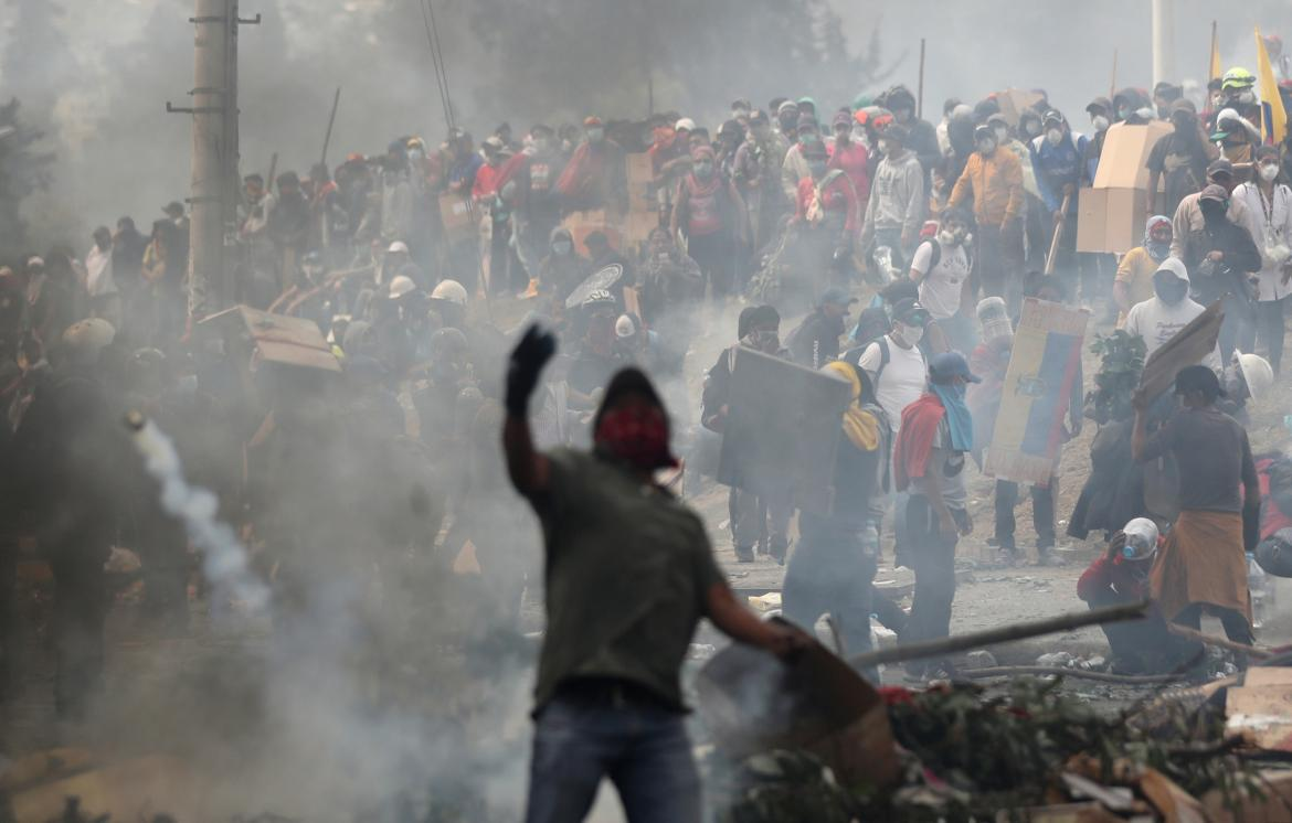 Jornada de protestas en Ecuador, incidentes, REUTERS