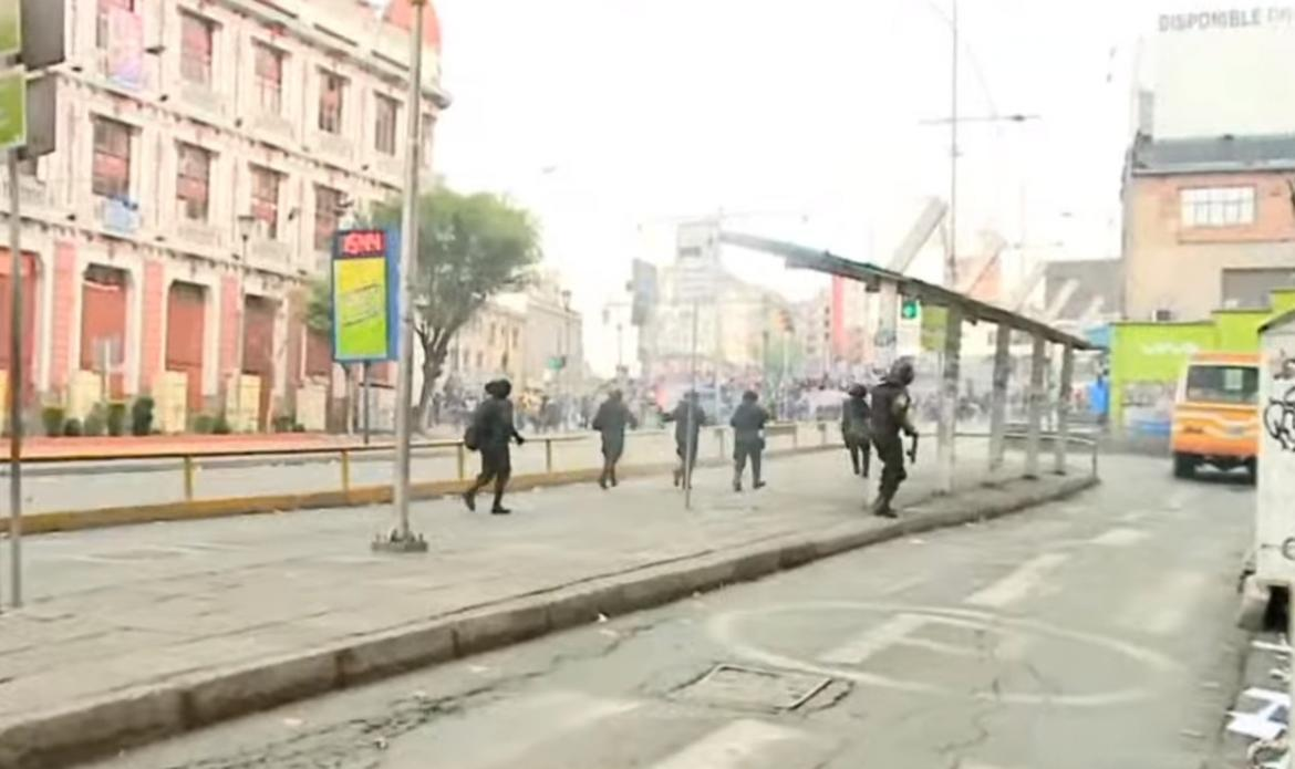 Incidentes en Bolivia, Captura de Youtube