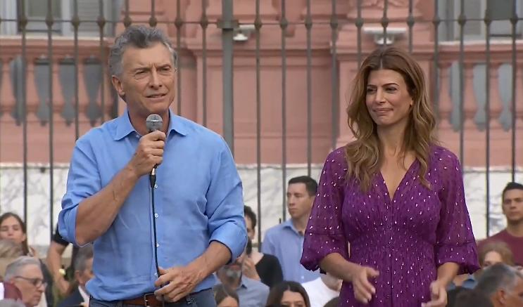 Despedida de Macri ante sus votantes, foto captura YouTube