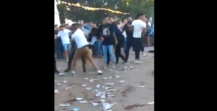 Batalla campal en facultad de La Plata, video