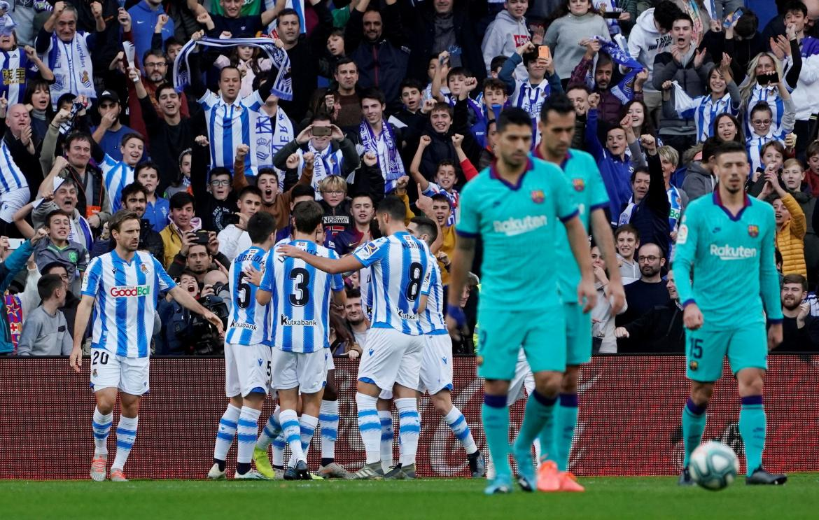 Real Sociedad vs Barcelona, La Liga, REUTERS