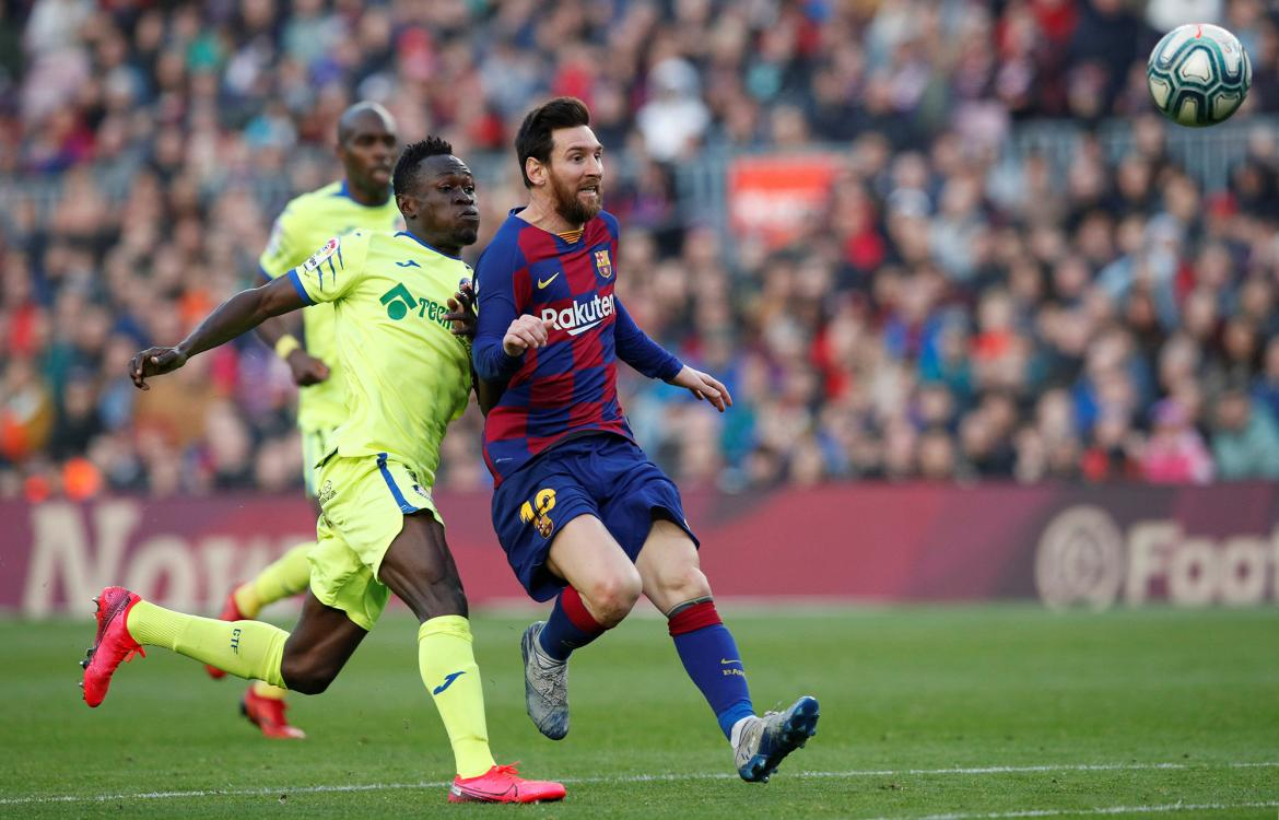 La Liga, Barcelona vs. Getafe, Messi, REUTERS