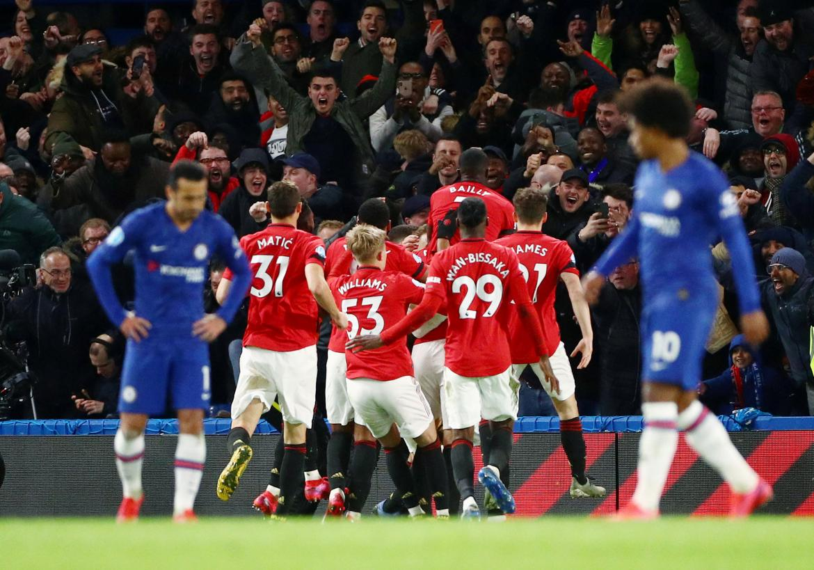 Chelsea vs. Manchester United, Premier League, REUTERS