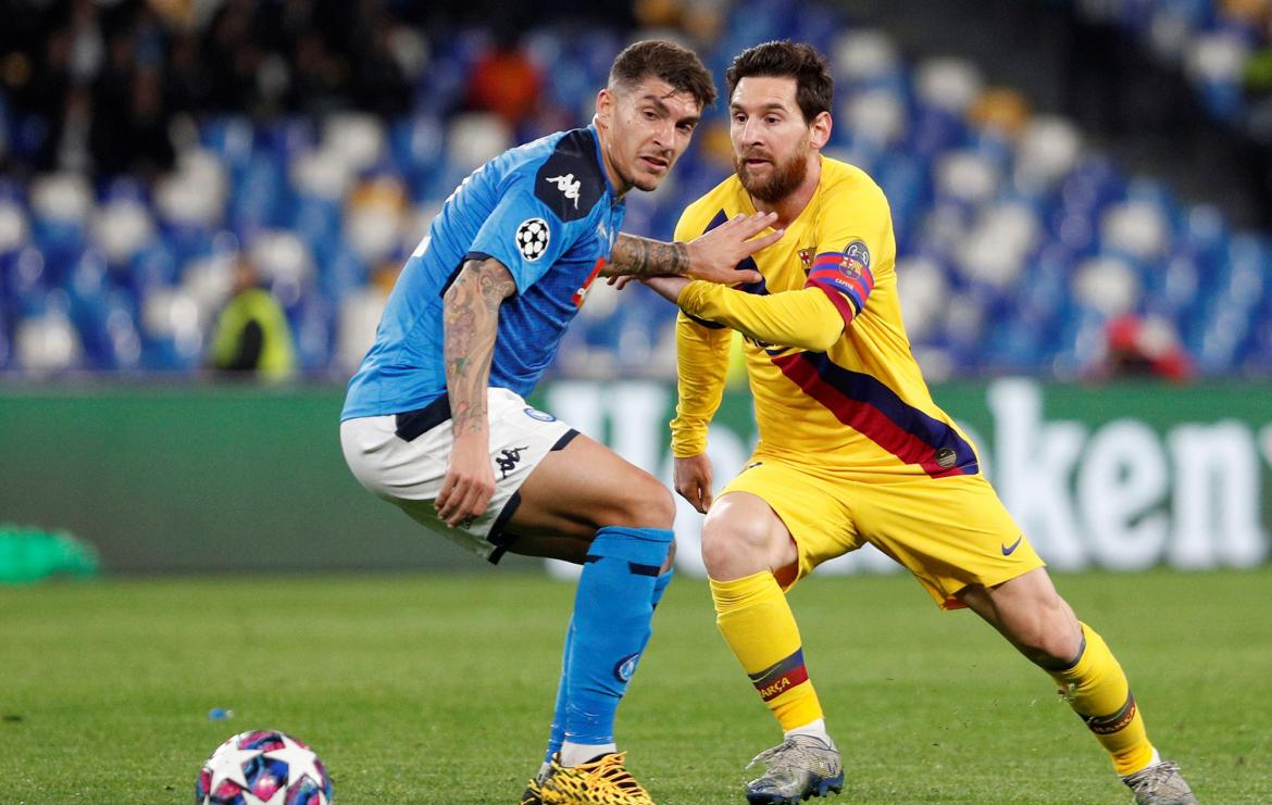 Napoli vs. Barcelona, Champions League, Lionel Messi, REUTERS