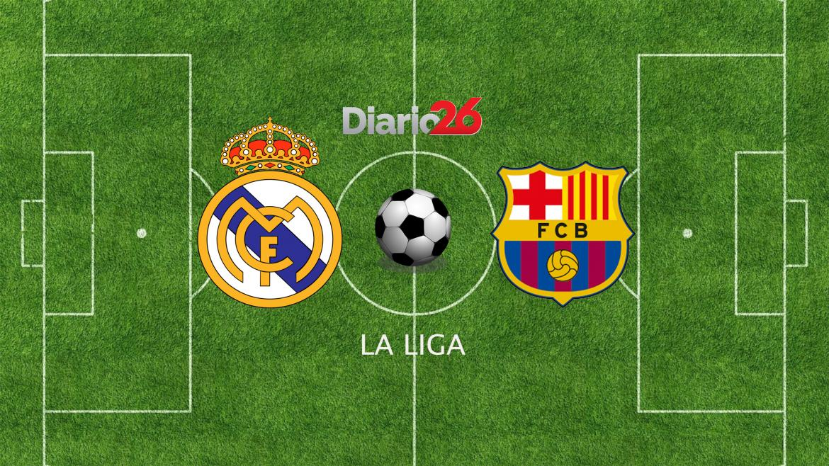Real Madrid vs. Barcelona, La lIga, Diario 26.