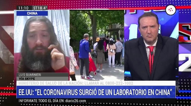 Luis Guarnieri especialista salud por coronavirus en China