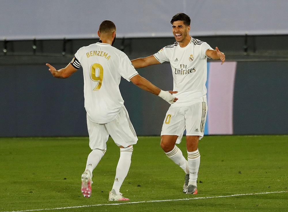Asensio y Benzema, Real Madrid vs. Alavés, Reuters