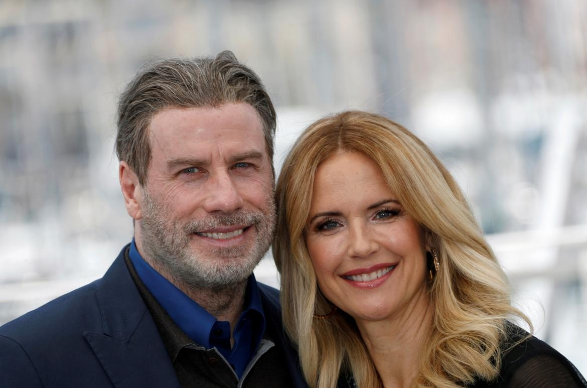 Kelly Preston y John Travolta, actores de Hollywood, REUTERS