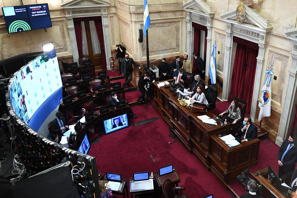 Senado, sesión virtual, NA