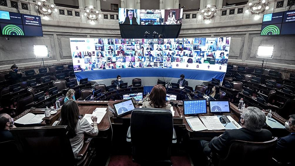Senado, sesión virtual