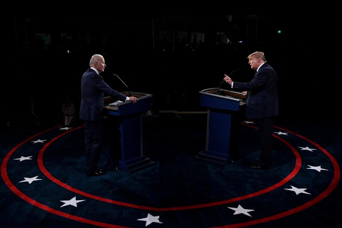 Joe Biden vs Donald Trump, Elecciones Estados Unidos, debate candidatos a presidente, REUTERS