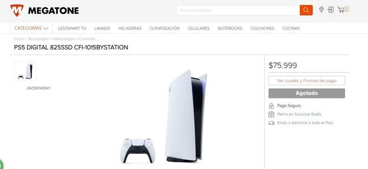 Venta de PlayStation 5, foto captura