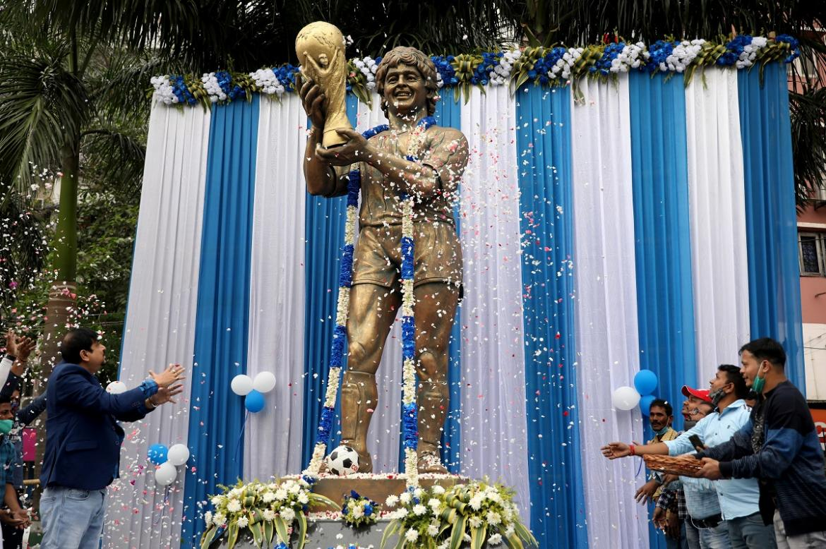 Estatua de Maradona en India, Reuters