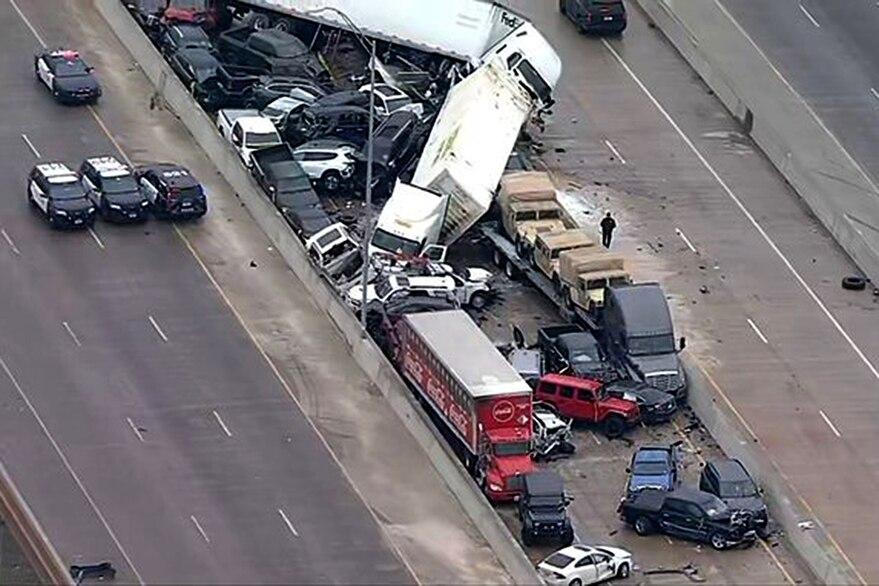 Choque en Texas, accidente