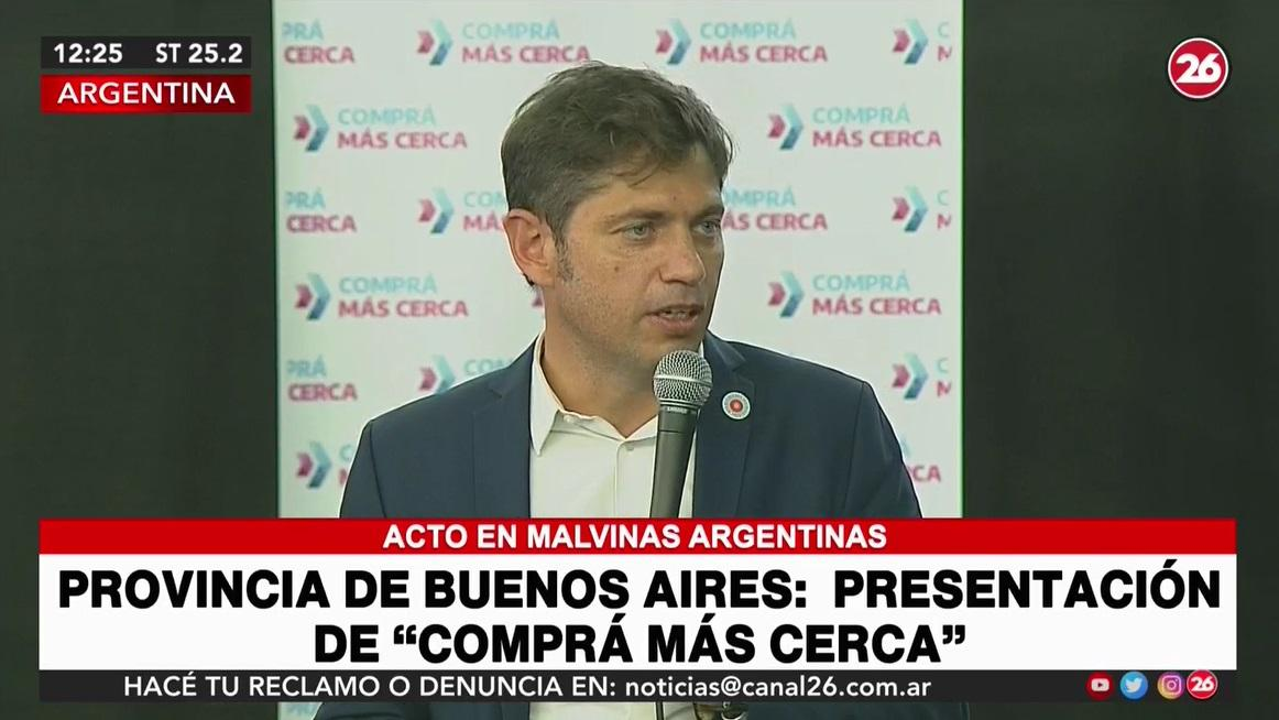 Axel Kicillof, gobernador de Provincia, captura YouTube