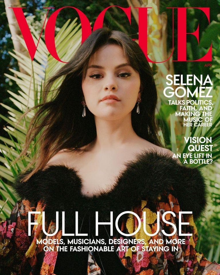 Selena Gómez en revista Vogue
